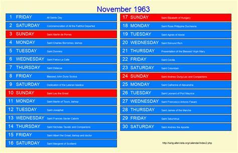 1963 Calendar Kichijoji Eikaiwa Info