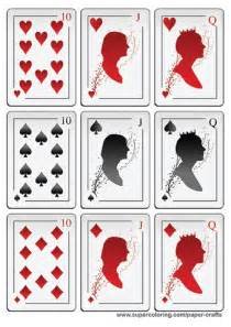 deck of cards with silhouettes printable template