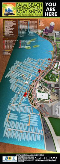 Palm Beach International Boat Show Map by International Boat Show Illustrated Map Illustrated Map
