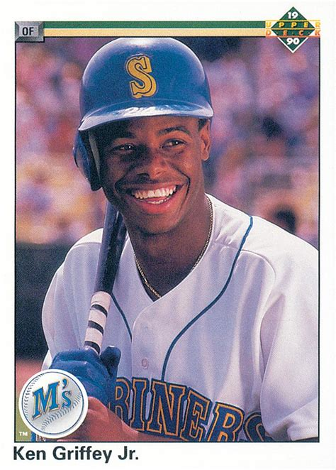 1990 deck 156 ken griffey jr uer simultaniously nm mt
