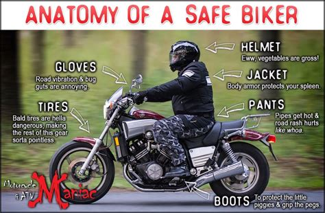 Anatomy Of A Safe Biker  #motorcycle #safety  Stay Safe Out There  Pinterest  Dirt Biking