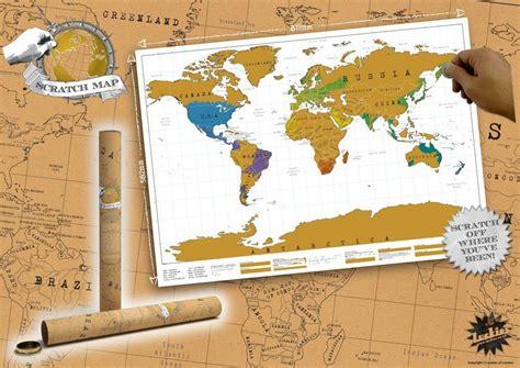 poster carte du monde 224 gratter cadeau id 233 al pour les voyageurs