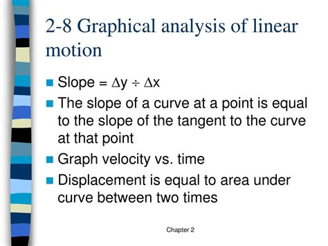 Ppt  Physics Chapter 2 Notes Powerpoint Presentation Id