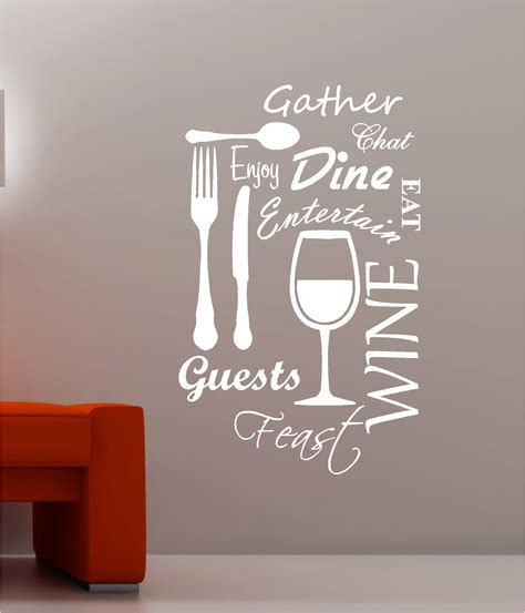 kitchen word cloud vinyl wall quote sticker dining