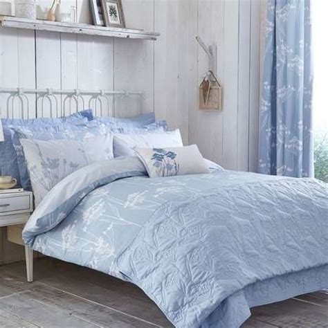 Bryony Blue Bed Linen Collection Dunelm