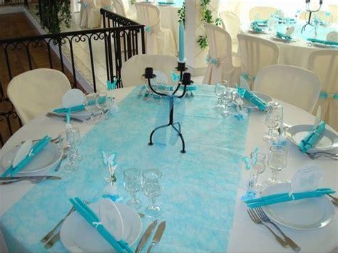 deco mariage bleu et blanc le mariage