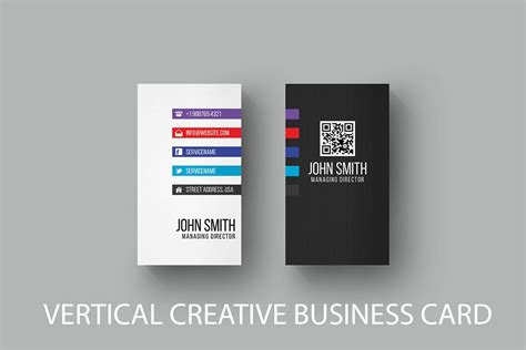 Free Vertical Business Card Template