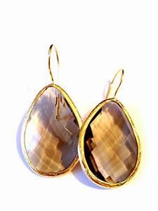 Wie Reinigt Man Gold : ohrringe golden smokey quarz vergoldet mit rauchqaurz yusimi ~ Markanthonyermac.com Haus und Dekorationen