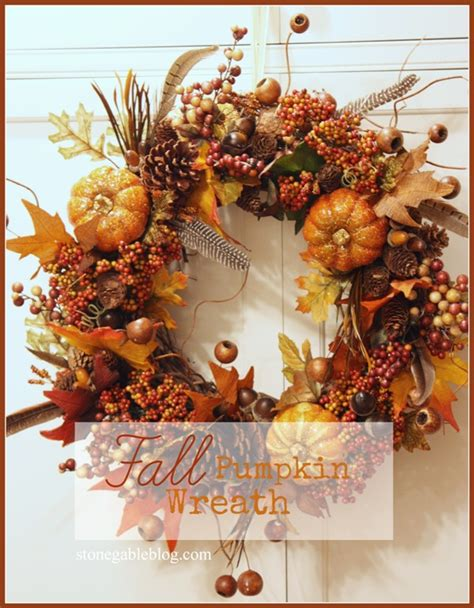 Four Fab Fall Wreath Diy's Stonegable