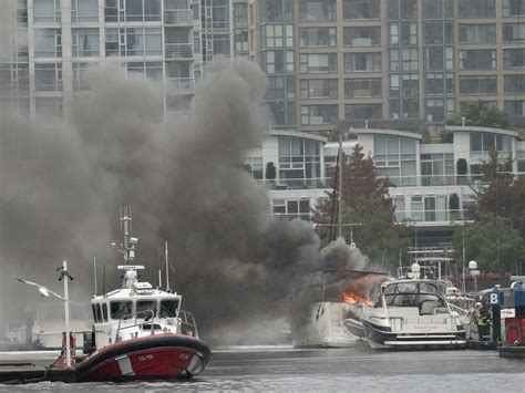 Vancouver Fire Boat 1 by Fire Destroys Boat At Vancouver S Quayside Marina