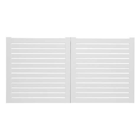portail battant pvc iliz blanc naterial l 300 cm x h 154 cm leroy merlin
