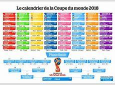 Programme coupe du monde 2018 calendrier complet, sur