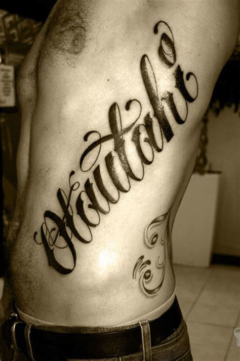 50 Excellent Tattoo Lettering Examples