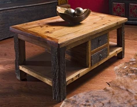 @# Coffee Tables Low Prices: Reclaimed Wood Lodge Cabin Rustic Mountain Coffee Table