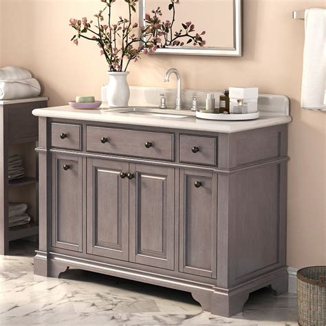 Wayfair Bathroom Vanity Units by Lanza Casanova 48 Quot Single Vanity With Backsplash Reviews