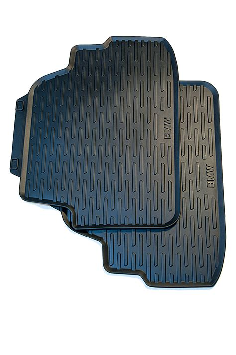 bmw genuine tailored rubber car floor mats set black rear