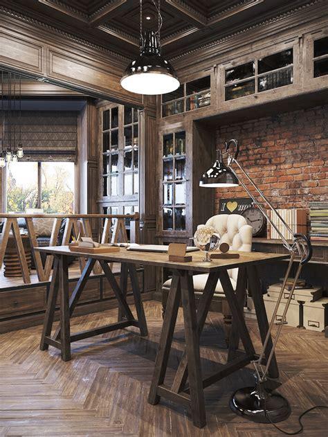 inspiring vintage house plans photo un bureau style industriel frenchy fancy