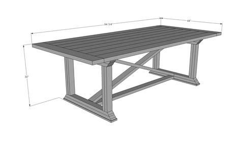 Standard Kitchen Table Size Coffee Table Dimensions On