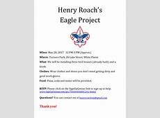2017 May 20 Henry Roach Eagle Project Troop 73 White