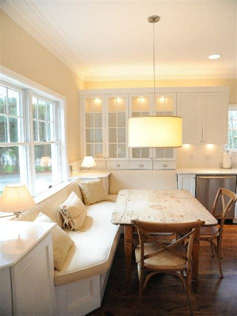 kitchen banquette transitional dining room