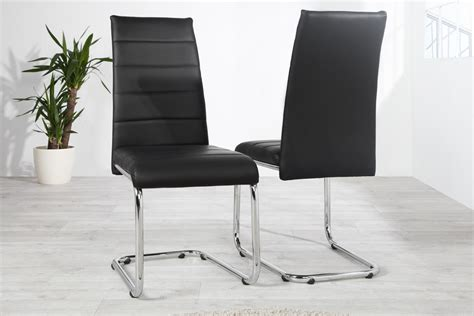chaise design cuir noir maison design sphena