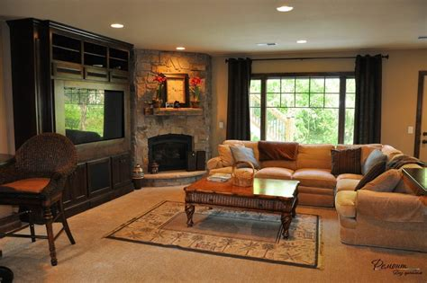 Corner Fireplace In Living Room Hanging Shower Curtain Bed Bath And Beyond Curtains Suspended Rod Rods Curved Options Fall Leaves Matouk Showers With
