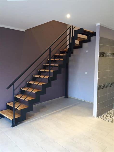 escalier m 233 tal marches bois