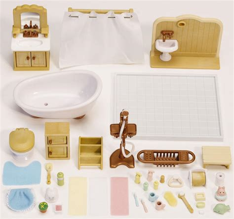 calico critters deluxe bathroom set at growing tree toys