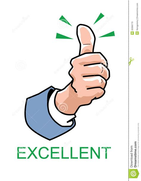 Thumbs Up  Excellent Stock Vector Illustration Of Good