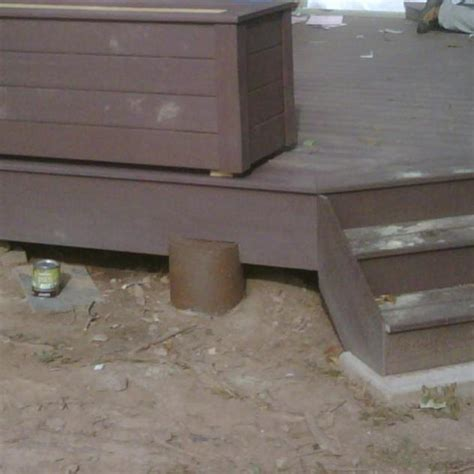 deck low for notched post and beam support decks fencing contractor talk