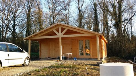 maison bois de 73 m 178 avec une terrasse couverte de 14 m 178 en bois en kit