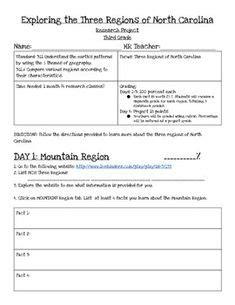 North Carolina 4th Grade Social Studies Projects  1000 Images About State Project Az On
