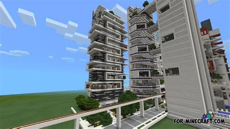 nxus modern city map for minecraft pe 0 10 x