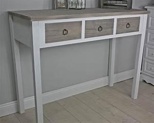 Tisch Weiß Holz : konsole anrichte sekret r wei holz braun landhaus shabby tisch massiv ebay ~ Markanthonyermac.com Haus und Dekorationen