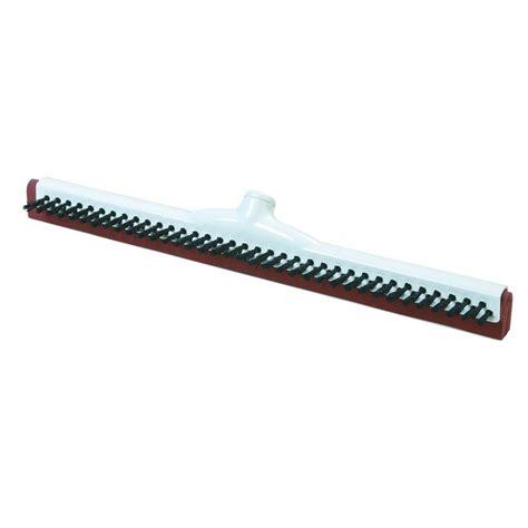 carlisle 18 in foam plastic frame floor squeegee with scrubbing bristles of 10