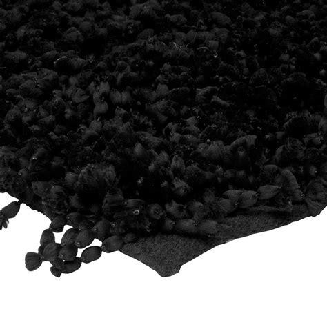 grand tapis noir shaggy pas cher 160x230cm monbeautapis