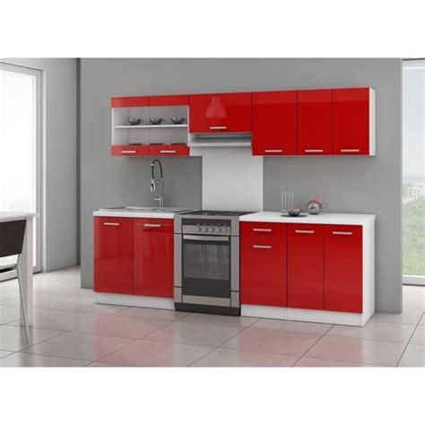Ultra Cuisine Complète L 2m40  Rouge Laqué Brillant