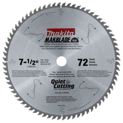Circel Afkortzaag by Makita 7 1 2 In X 5 8 In 72 Teeth Miter Saw Blade A