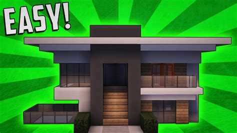 minecraft how to build a small modern house tutorial 8 minecraft