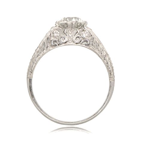 deco style engagement ring sv 11238