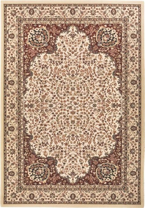 tapis vierge 100 floral beige blanc cass 233 170x240
