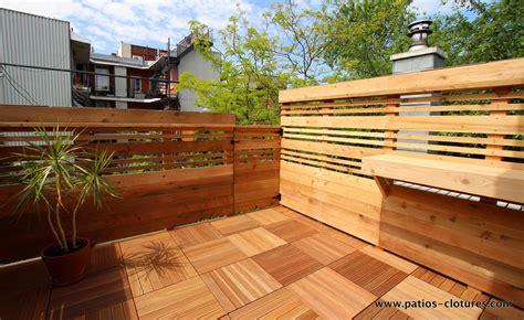 terrasse sur le toit boivin patios et cl 244 tures beaulieu