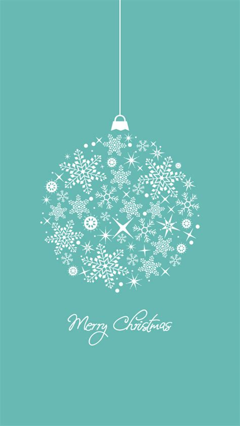 Minimalist Merry Christmas Illustration Iphone 5 Wallpaper
