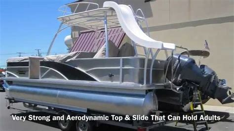 Pontoon Party Boat With Slide by Sweetwater Premium 240 Sd Slide Pontoon Performance Video