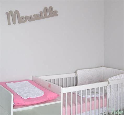 deco chambre bebe fille et gris