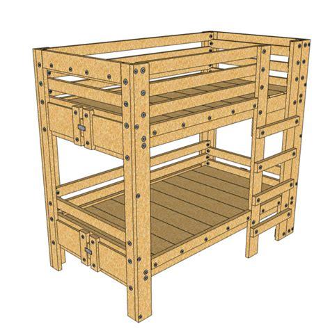 diy xl bunk bed craftsman charleston by palmetto bunk beds