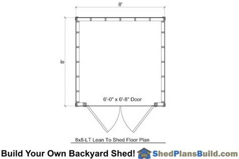 8x8 lean to shed plans build a lean to shed