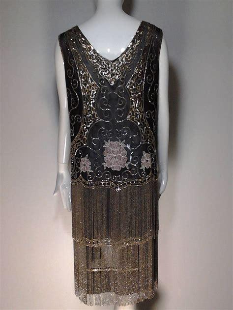 1920s quintessential deco glass beaded fringe quot flapper quot dress at 1stdibs