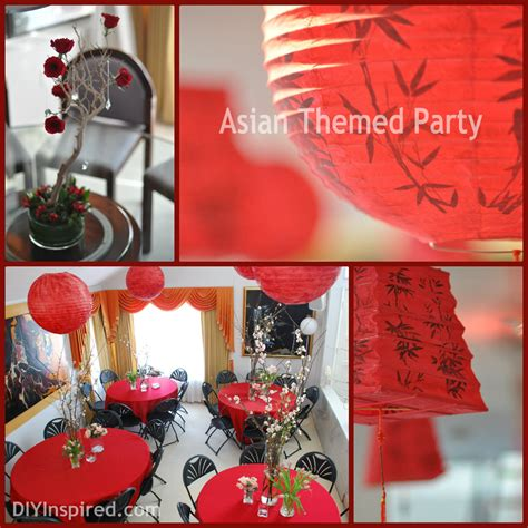 Asian Themed Party  Diy Inspired