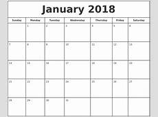 2018 Printable Calendar Pay Bill Printable Calendar 2018